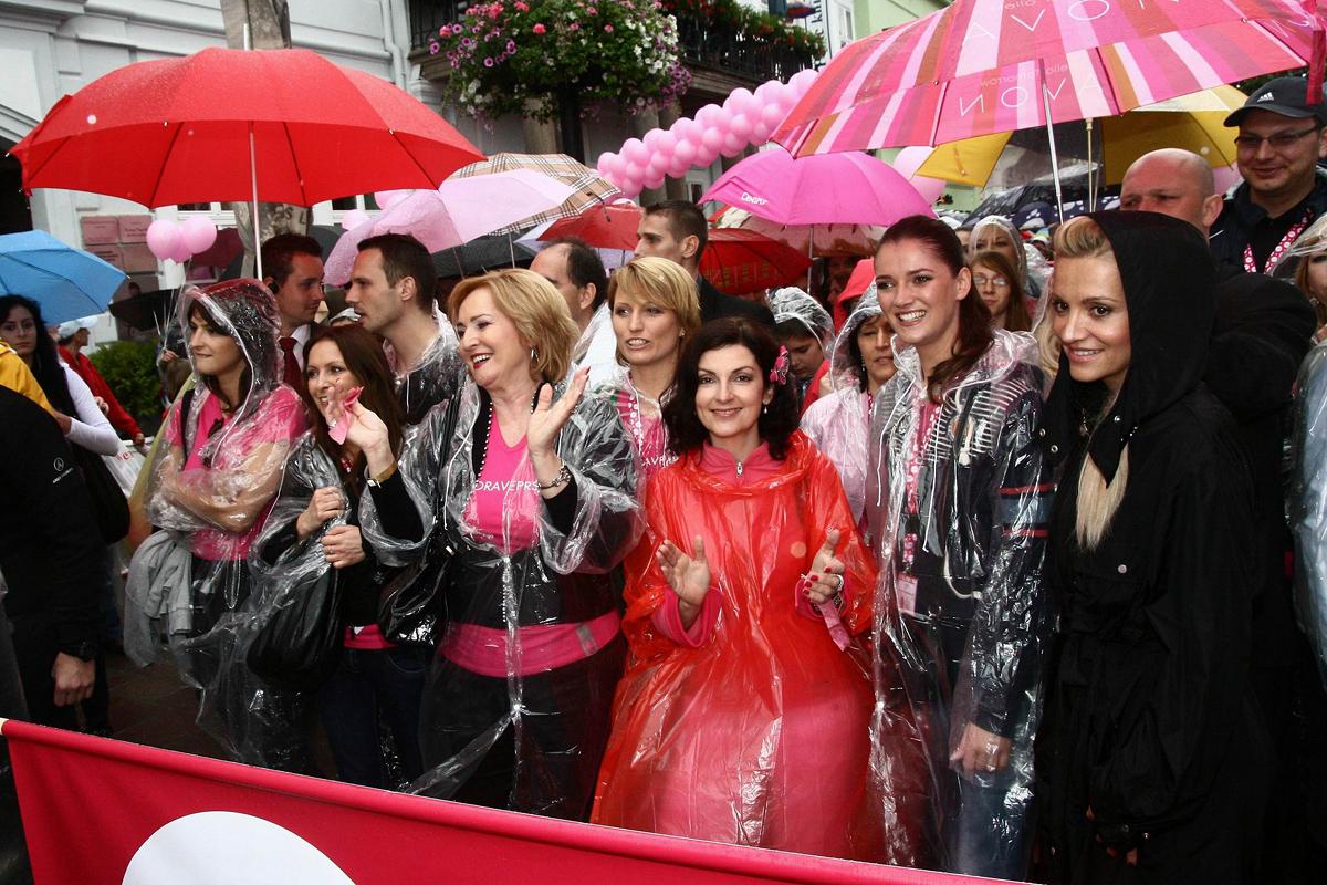 Z pochodu proti rakovine prsníka