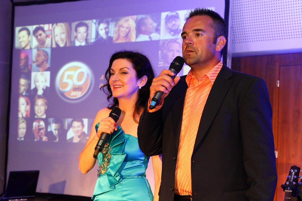 S moderátorom Slávom Jurkom (foto Paľo Čepček)