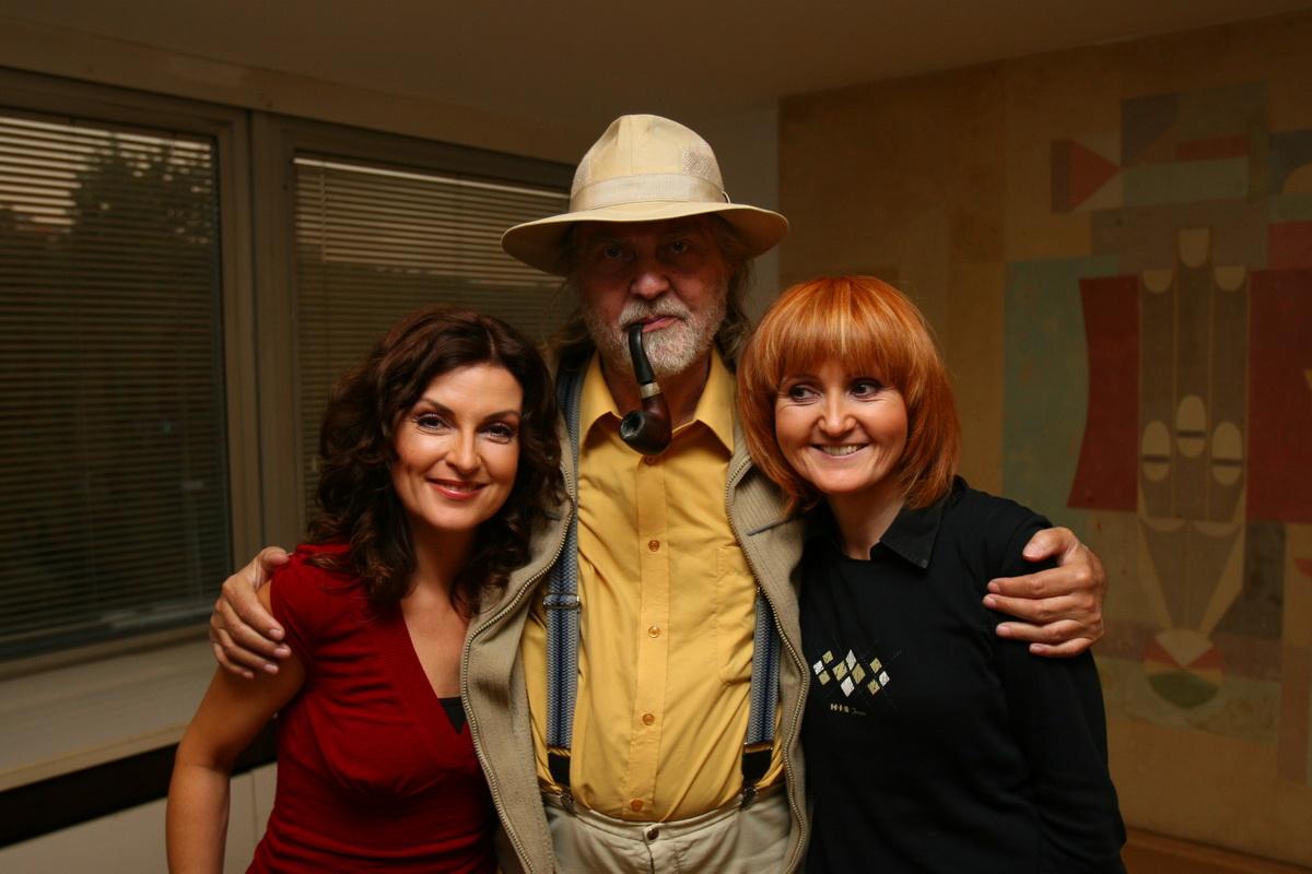 S hlasovým pedagógom Františkom Tugendliebom a Alenou Čermákovou